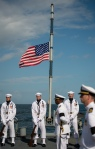neil-armstrong-remains-burial-at-sea-flag-mast