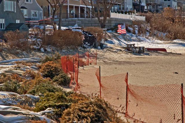 WeymouthDSC_5892 Christmas Tree beach barrier