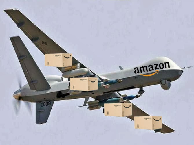 brilliant marketing gimmick amazon drone on the north. Black Bedroom Furniture Sets. Home Design Ideas