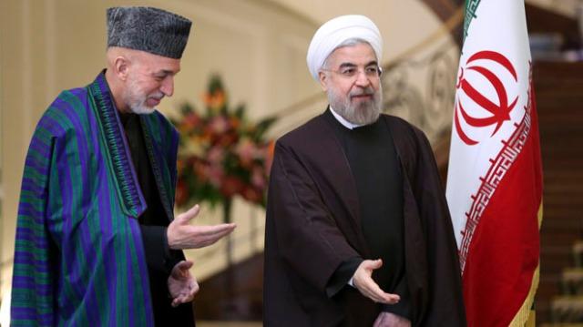 Hassan Rouhani, Hamid Karzai